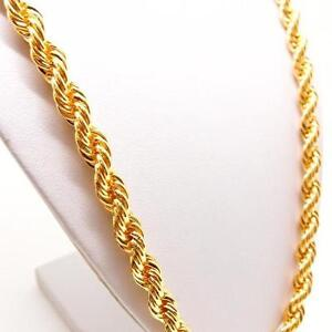 """24"""" 7mm goldfilled rope chain. 72% OFF"""