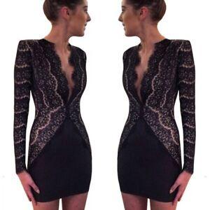 XS formal club mini Lace sexy cocktail dress