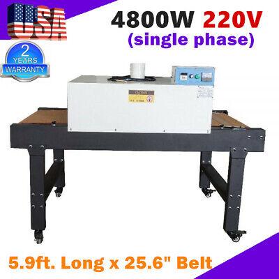 T-shirt Screen Printing Conveyor Tunnel Dryer 5.9ft Long X 25.6 Belt Screen