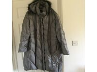 CENTIGRADE 3XL GREY FEATHER AND DOWN COAT
