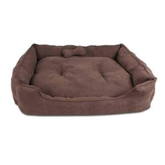Medium-Faux Suede Washable Dog Bed