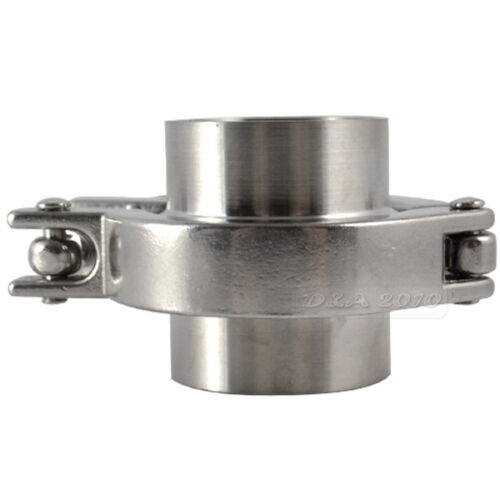 "Tri Clamp 2Pcs 38MM 1-1//2/"" 1.5/"" OD SS316 Sanitary Weld Ferrule PTFE Gasket"
