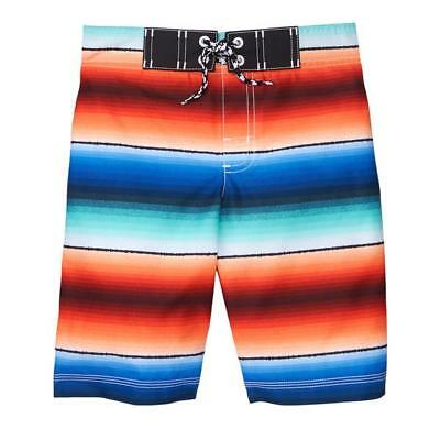 NWT Gymboree Getaway Shop Boys Ombre Striped Board Shorts Swim Trunks Swimsuit -