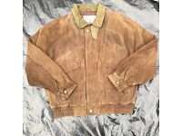 New Zealand Outback Original Rugged NZO Hunting Bomber Jacket Size Large Brown and olive khaki green