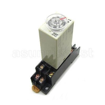 H3y-2 Power On Time Delay Relay Timer 1s - 60s 12v 24v 220v Dpdt Socket Base
