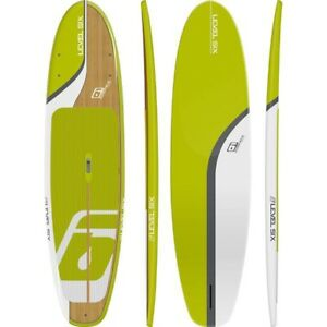 Level Six SUP—11.2 ft XL in Citron/Bamboo Colour-Instock!