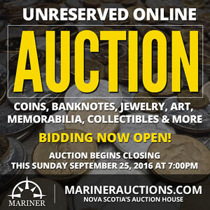 ONLINE AUCTION - Coins, Jewelry & More Closing This Sunday!