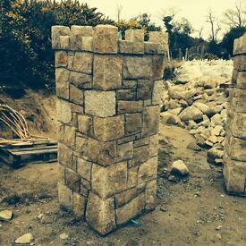 Mourne Granite Brown & Grey Field Stone (Facing works)