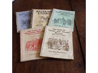 Vintage 1930's school text books. The Story of History.