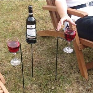Wine holders stake in ground