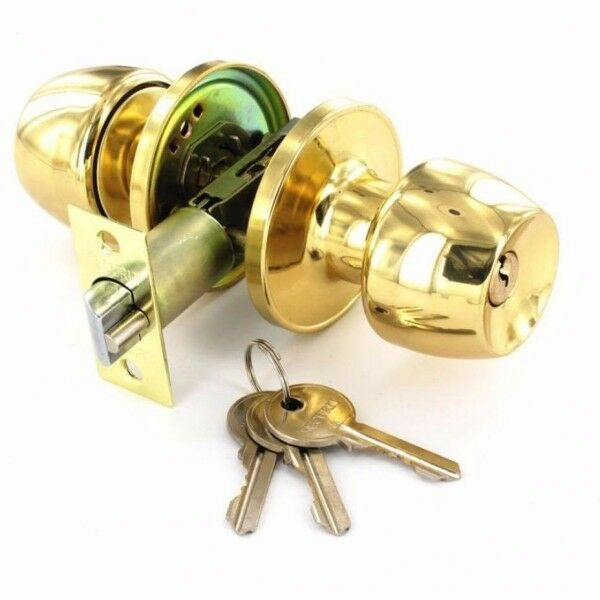 Securit Knob Set Entrance Lock Brass 60/70mm