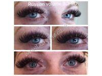 Russian volume eyelashes 3D-9D, Acrylic nails, Mink eyelash extensions, gel polish