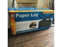 Paper log briquette maker. Free Firewood !