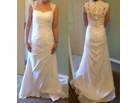 White Wedding Dress Size 8 - 10