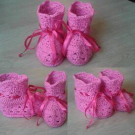 Handmade baby booties!!!