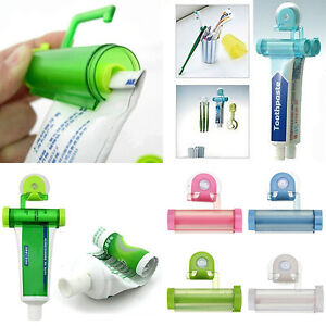 Colorful Plastic Tube Rolling Toothpaste Squeezer Dispenser Hook Hanging Holder
