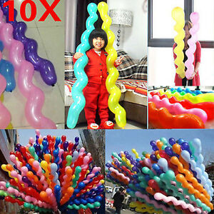 Wholesale 10Pcs Wedding Birthday Party Festival Decor Mixed Latex Spiral Balloon