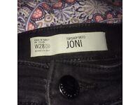 Black Topshop size 10 Joni skinny jeans