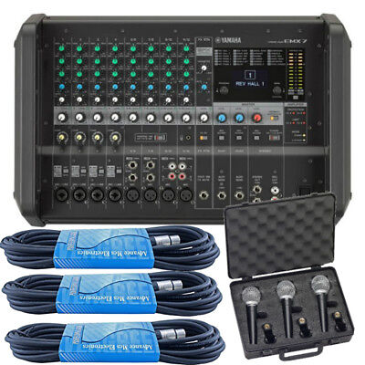 Yamaha EMX7 12-Channel 1260W Stereo Powered Mixer W/ Free Microphones, XLR *New* for sale  Shipping to Canada