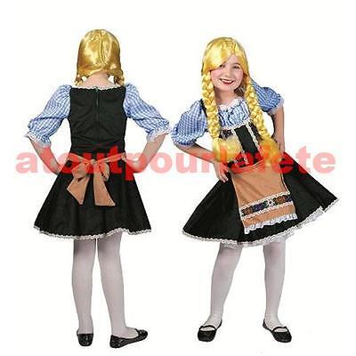 Déguisement de Tyrolienne enfant 116cm - - Kostüm Tyrolienne