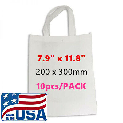 Us 10pcspack 7.9 X 11.8 Blank Sublimation Non-woven Shopping Bags Tote Bags