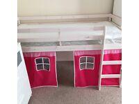 Pine tent bed