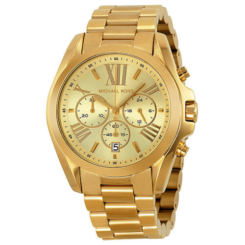 Michael Kors Bradshaw Chronograph Gold-tone Unisex Watch MK5605