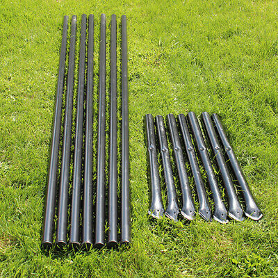8 H Deer Fence Heavy Line Posts With Ground Sleeves 7 Pack