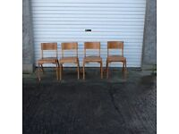 4retro stacking chairs