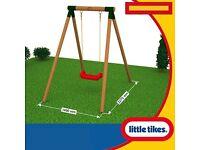 Little Tikes Single Wooden Swing - New