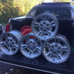 "6 bolt 15"" stock dodge rims basically new sell or trade"