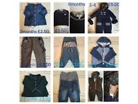 Baby clothes (priced individually)