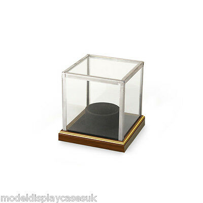 SIGNED CRICKET BALL + HOLDER - GLASS DISPLAY CASE ONLY