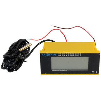 12v Mini Digital Lcd Thermometer Temperature Meter 4 Fish Tank Freezer W Sensor