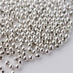 250 Silver Plated Spacer Beads 3mm Jewellery Making Findings Crimps J16061B