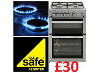 £30---- Gas Cooker Installation & safety Certificate ----£30 Registered fitter hob oven birmingham