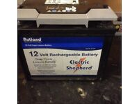 Rutland Electric fence 12v Rechargeable battery