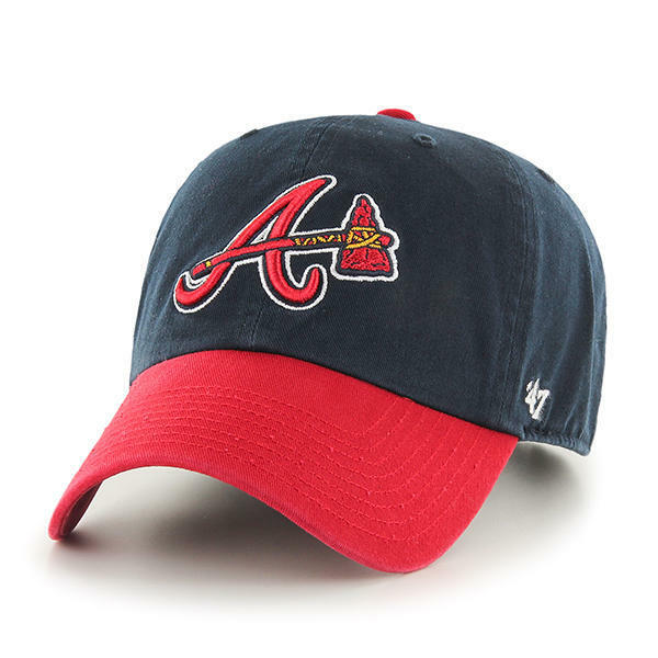 braves brand adjustable dad cap hat tomahawk clean up lucky baseball