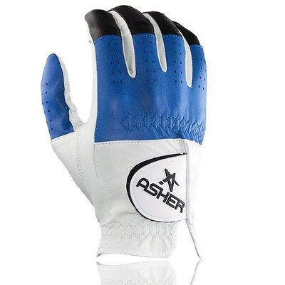 Mens Asher  Glove Premium Collection: Black and Blue