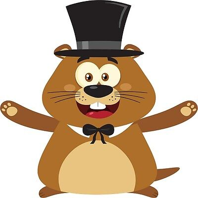 30 Custom Happy Top Hat Groundhog Personalized Address Labels
