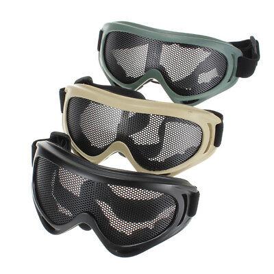Hot Sale Tactical Shock Resistance Eyes Sports Metal Mesh Net Shooting Glasses