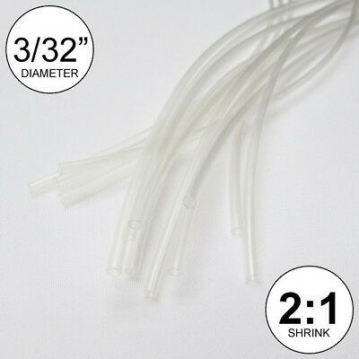 332 Id Clear Heat Shrink Tube 21 Ratio Wrap 14x9 10 Ft Inchfeetto 2.5mm