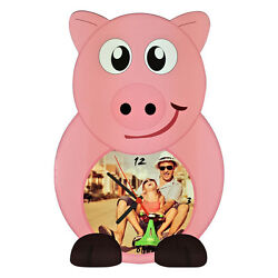 WALL CLOCK CUSTOMIZED PRINT PERSONALIZED PHOTO ANIMAL PIG PIG