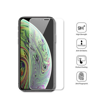 Tempered Glass Screen Protector For iPhone 11 Pro Max X XS Max XR 6 7 8 -2 Pack