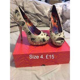 Skull high heels