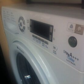 10KG A+++ECO TECH WHITE HOTPOINT WASHING MACHINE FULLY TESTE FULL WORKING COMES WITH A WARRANTY