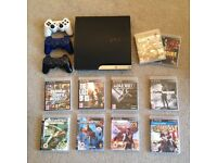 PS3 320gb with 10 quality games and 3 controllers