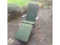 Sturdy hardwood steamer chair plus cushion
