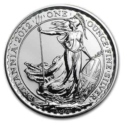 2012 ~ UNITED  KINGDOM ~ 1~OUNCE ~ FINE SILVER ~ BRITANNIA ~ GEM COIN ! ~ $38.88