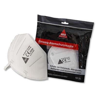 Atemschutzmaske 10 Stück FFP2 HASE Einwegmaske Maske Atemschutz Gesichtsschutz